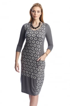 Capri Clothing RING PRINT COMBO DRESS