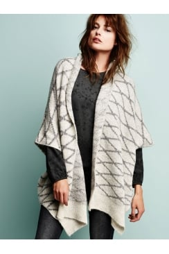 Sandwich Clothing BRUSHED WOOL PONCHO STYLE CARDIGAN