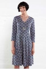 3/4 SLEEVED FLARED DRESS