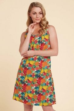 AALIYAH DRESS HAWAII PRINT