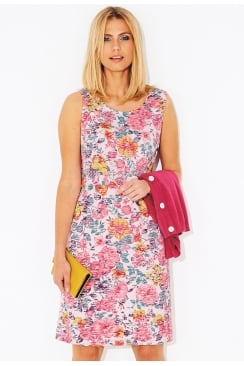 ABY DRESS ROSA BURNOUT