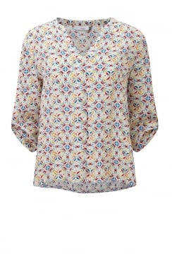ADDIE BLOUSE ALFAMA PRINT