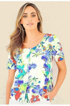 ANGELINA TOP DOMINICA PRINT