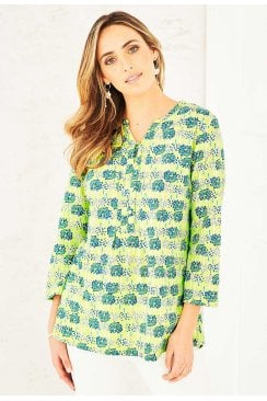 ANYA TUNIC DOUBLE TREE PRINT