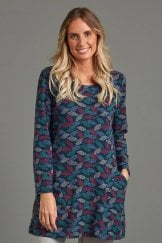 ASPEN TUNIC TEXTURED LEAF PRINT