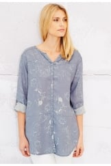 AUBREY TUNIC ABSTRACT POPPY