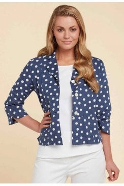 CANDICE JACKET BEAUFORT SPOT PRINT