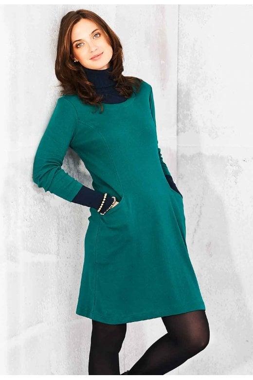 Adini CAROLINE DRESS COTTON RIB