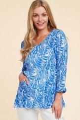 CODI TOP BRUSHSTROKE PRINT