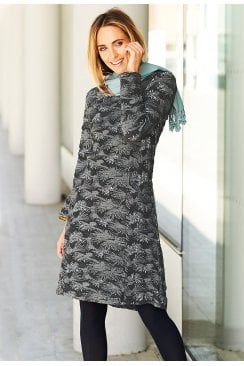 DEBRA DRESS FOSSIL WEAVE