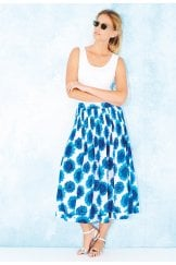 FRILLY SKIRT SUNFLOWER PRINT