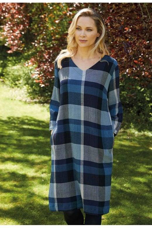 Adini GRACE COLOUR WOVEN CHECK DRESS