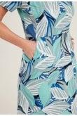 Adini HAITI DRESS JUNGLE LEAF PRINT