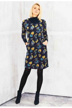 IRENA DRESS DANUBE VELOURE