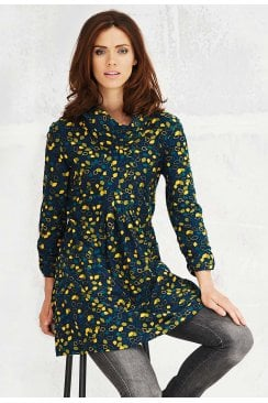 IRINE TUNIC FALLING LEAVES PRINT