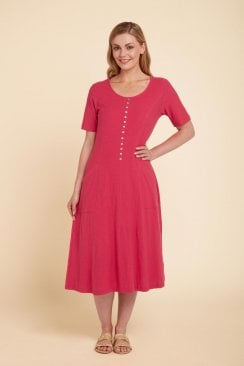 JESSIE DRESS SOLID SLUB