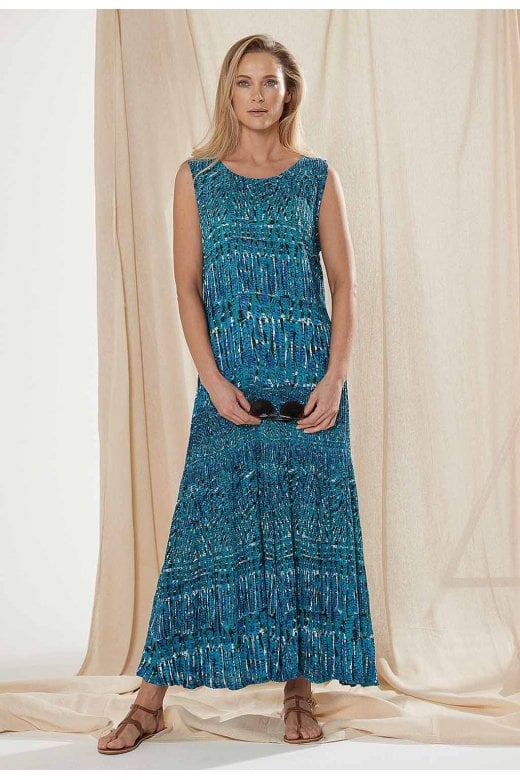 Adini KENLEY DRESS LAGOON PRINT
