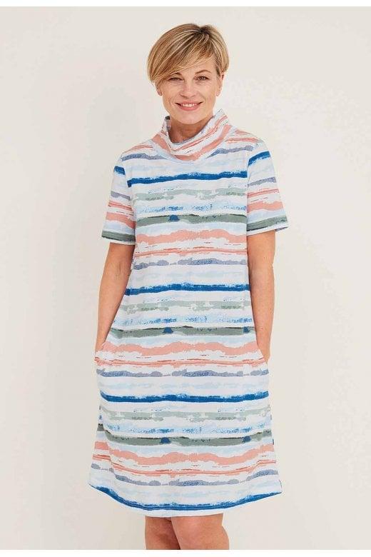 Adini LANA DRESS WHITBY STRIPE