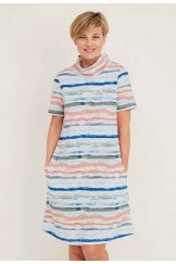 LANA DRESS WHITBY STRIPE