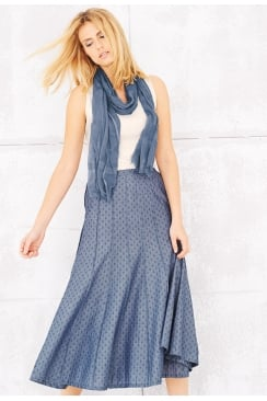 LEAH SKIRT MARINE CHECK