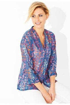 LIBBY BLOUSE LUPIN PRINT