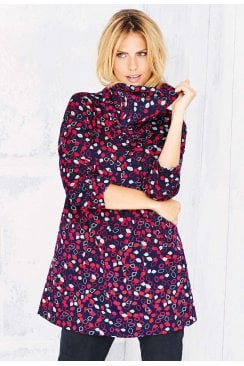 PAMELA TUNIC AUTMN LEAVES PRINT