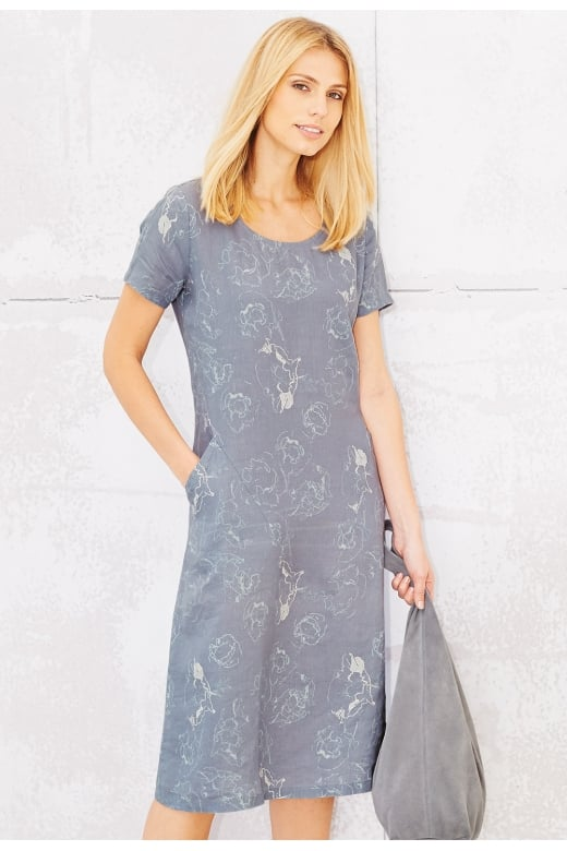 Adini PATIENCE DRESS ABSTRACT POPPY