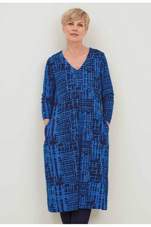 Adini RIDLEY ABSTRACT CHECK DRESS