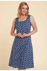 ROXY DRESS BEAUFORT SPOT PRINT
