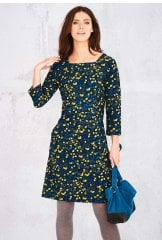 STACEY DRESS FALLING LEAVES PRINT