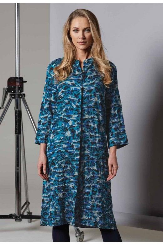 Adini AVALON MARBLE PRINT DRESS