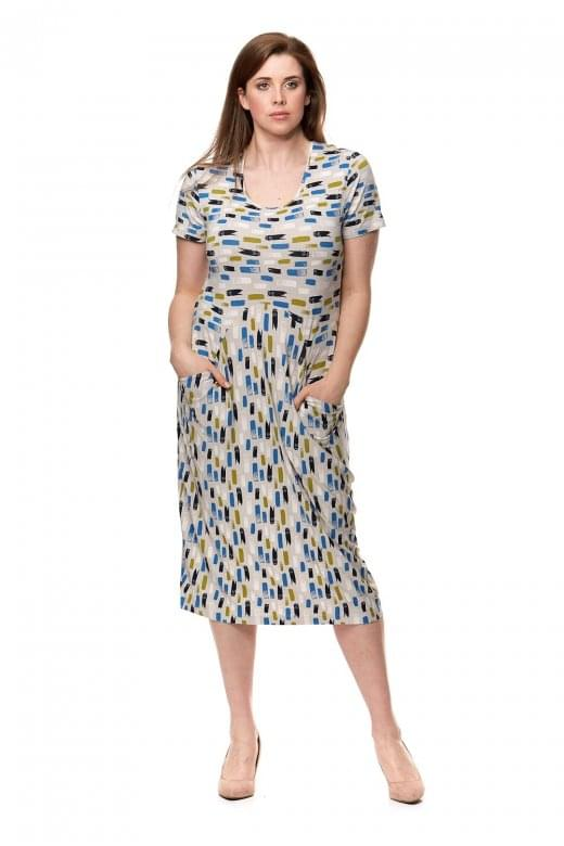 Capri Clothing ARTISTIC PRINT DRESS