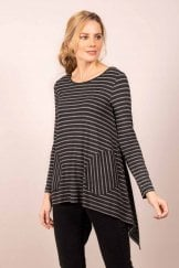 BRUSHED MARLED STRIPE TUNIC