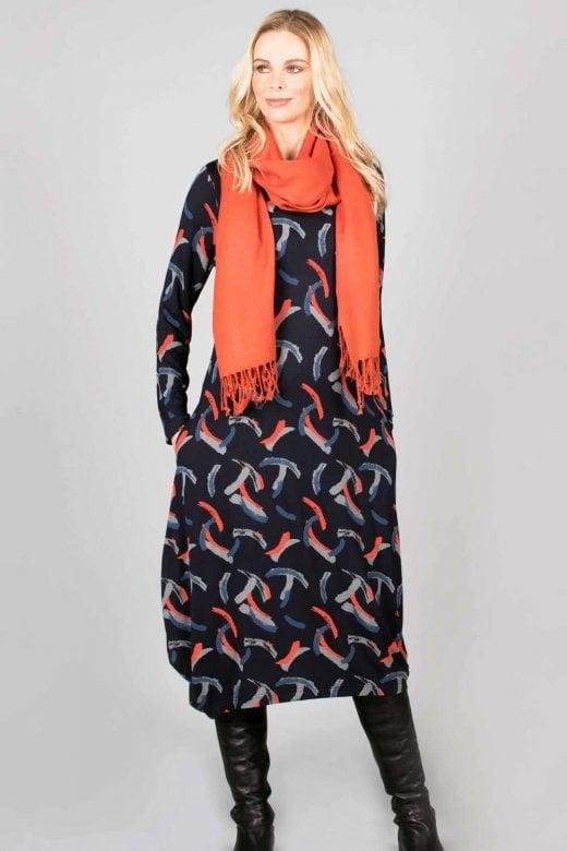 Capri Clothing BRUSHSTROKE DRESS