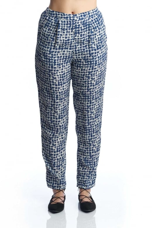 Capri Clothing BRUSHSTROKE PRINT TROUSER