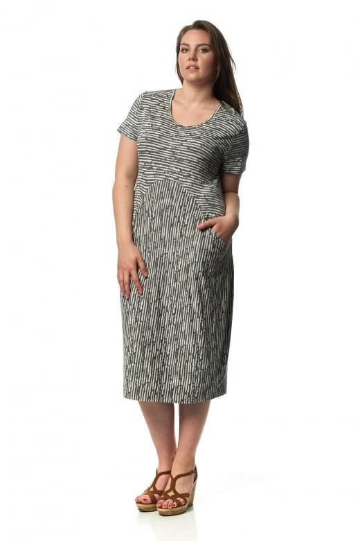 Capri Clothing BUDE STRIPE TWO POCKET DRESS