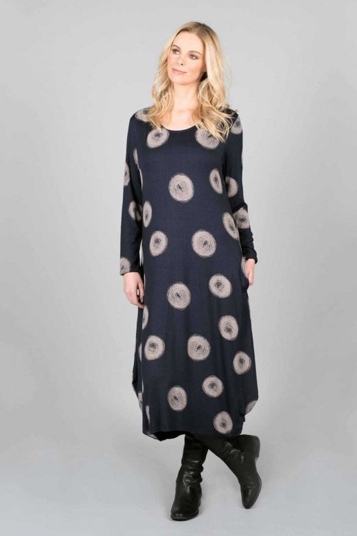 Capri Clothing COCOON NAVY DRESS