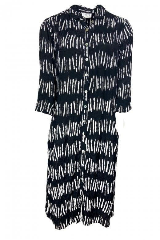 Capri Clothing CORA STRIPE SHIRT DRESS
