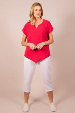 CROSS HATCH GAUZE TOP