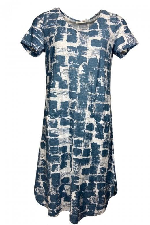 Capri Clothing DISTRESSED PRINT DRESS