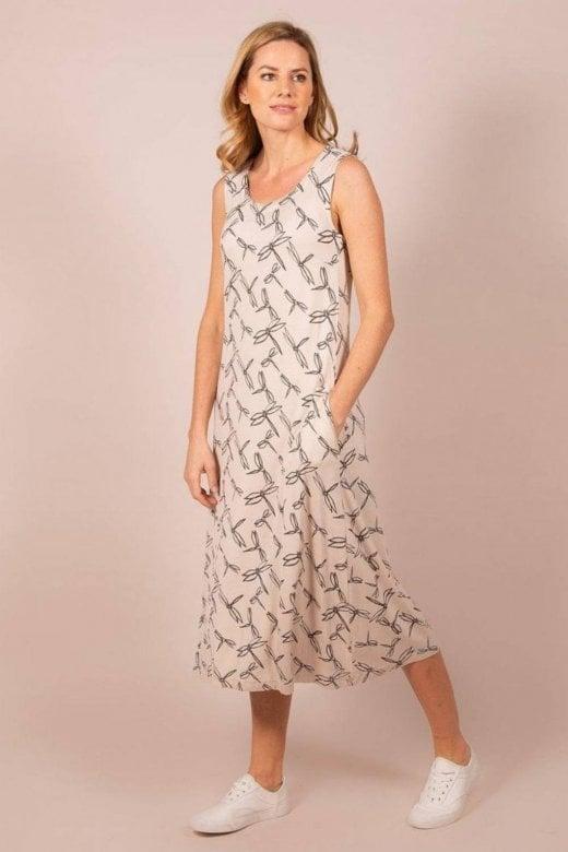 Capri Clothing DRAGONFLY SLEEVELESS DRESS