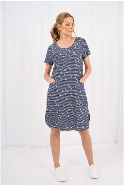 Capri Clothing DRIFT STRIPE DRESS