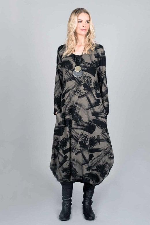 Capri Clothing PINES PRINT DRESS