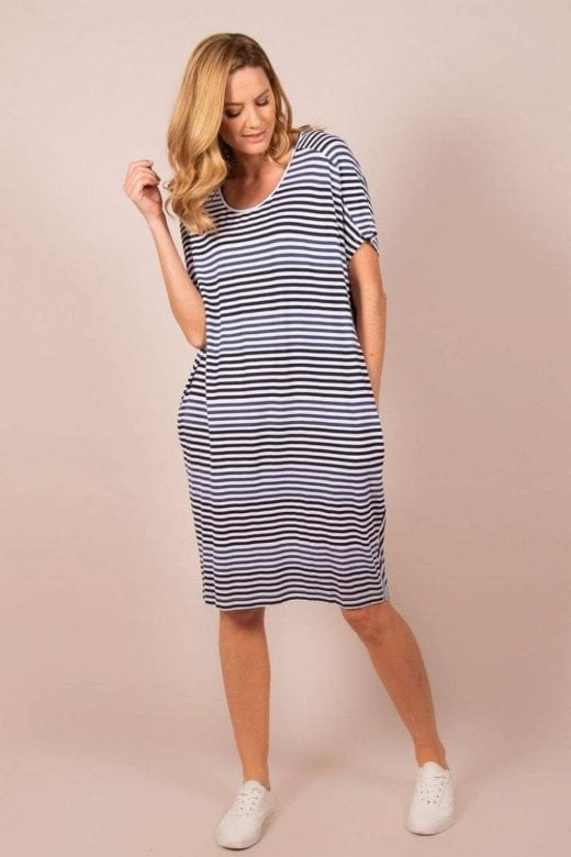 Capri Clothing PISA STRIPE OVERSIZED DRESS