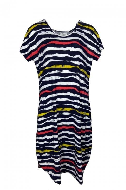 Capri Clothing RIBBED STRIPE DRESS