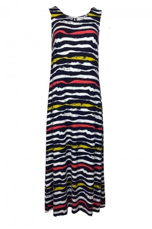 Capri Clothing RIBBON STRIPE DRESS