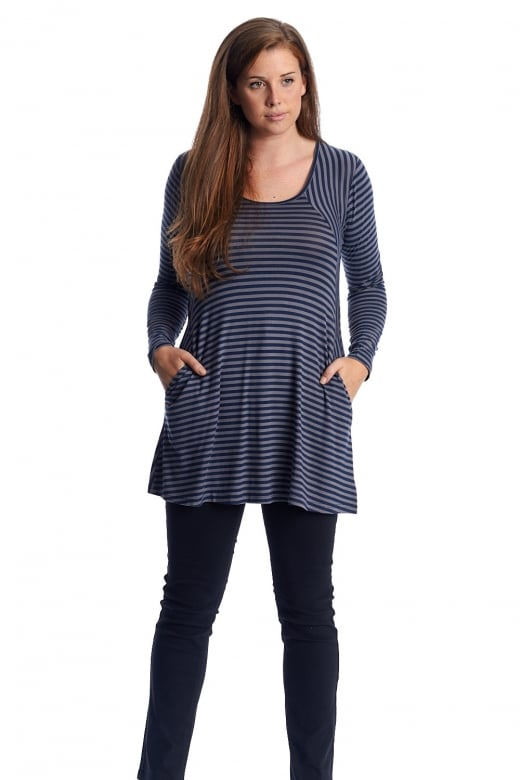 Capri Clothing ROUND NECK POCKET TUNIC