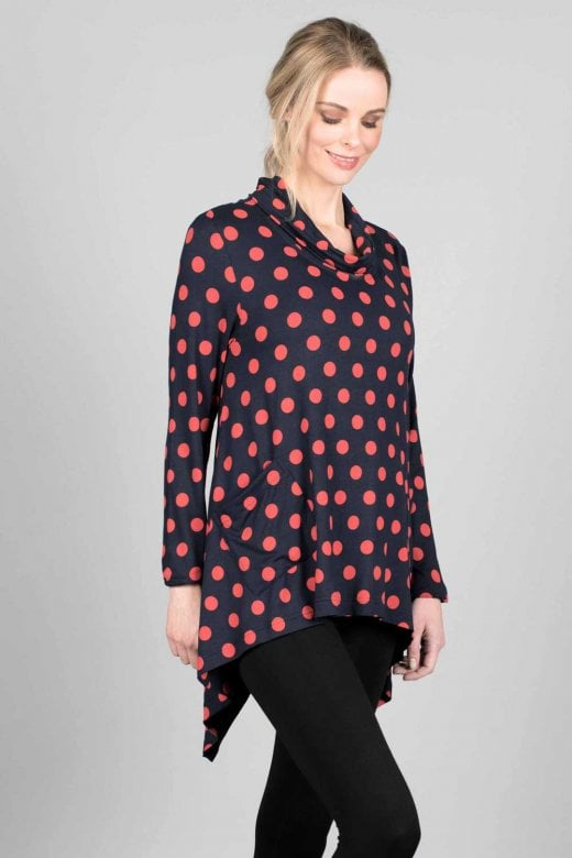Capri Clothing SIENNA SPOT TUNIC
