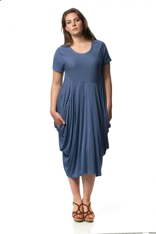 Capri Clothing SQUARE SPOT DRESS