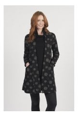 TEXTURED CLOUD PRINT COAT